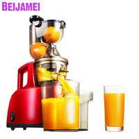 BEIJAMEI Wholesale low speed orange slow juicer machine electric firut extractor fruit vegetable juicer with big diameter