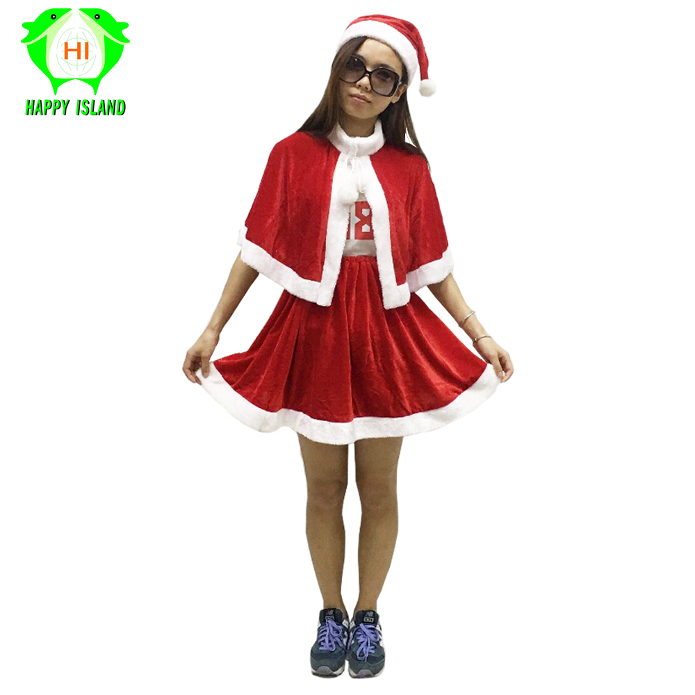 83249d1febfd 2019 Women Christmas Santa Claus Costumes Sexy Girls Carnival Party Santa Costume  Women Cosplay Skirt +