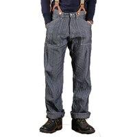2018 Бронсон мужские Прямые джинсы комбинезоны Высокая Талия штаны в полоску LOT.881 1881 Одна деталь модель Fly Военные Брюки Unwash 36
