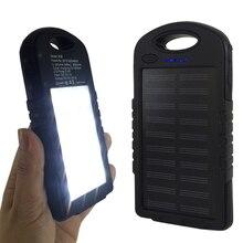 Antiknock External Battery Charger Case 8000mAh Solar Panel Sun Power Bank for iPhone 8,8plus,X,with LED Camp SOS Light