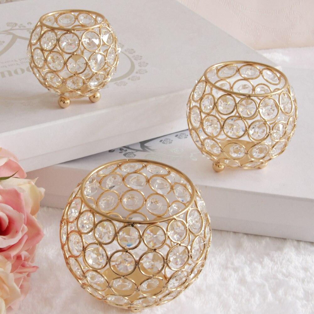 gold votive candle holders wedding crystal bowl candelabra for christmas home