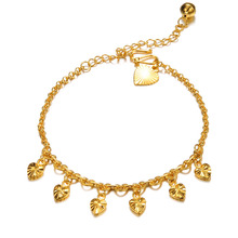 Classical Heart Pendant Woman Anklets Fashion Women Ankle Bracelets Jewelry Adjustable Link Chain KZ724