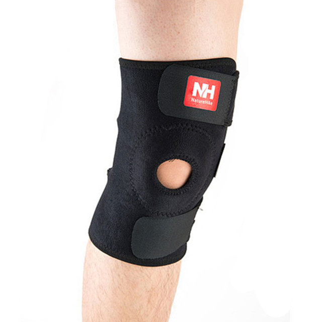 NatureHike Adjustable Elastic Knee Support Brace Kneepad Patella Knee Pads Hole Sports Kneepad Safety Guard Strap For Running