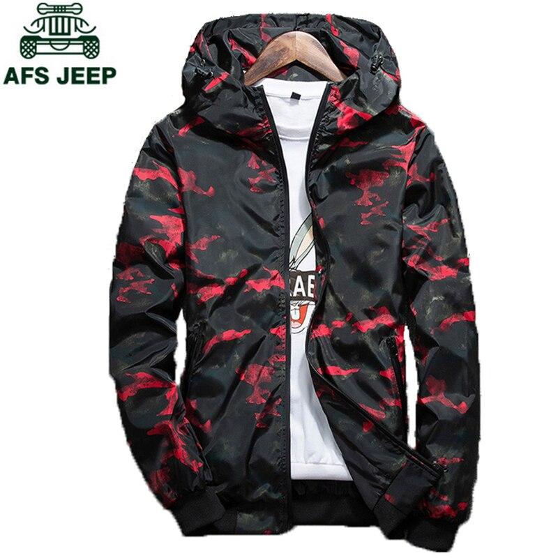 2018 Spring Autumn Mens Casual Camouflage Hoodie Jacket Men Plus Size 4XL Waterproof Windbreaker Coat Male Innrech Market.com