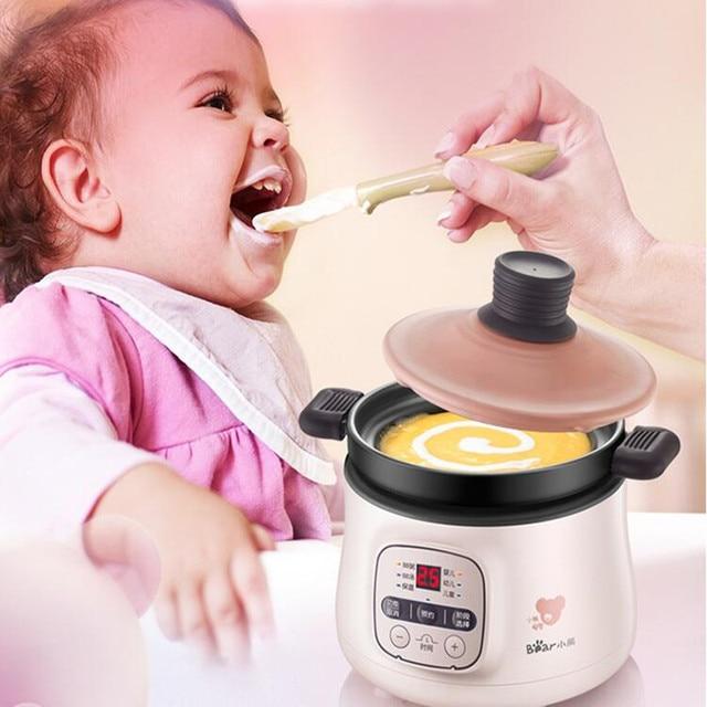 Automatic 220V Electric Baby Porridge Cooking Pot Mini Multi Cooker Electric Stewing Pot Cooker EU/AU/UK/US Easy Operation 3