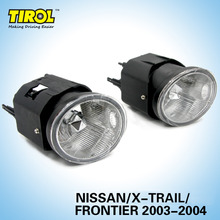 Tirol T16811b Fog Light Lamp kit OEM Replacement for X-trail/Frontier Pickup Truck Smoke Front Bumper Lamps Pair