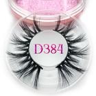 Mikiwi 20mm Long D384 3D mink lashes long lasting mink eyelashes Big dramatic volumn eyelashes strip individual false eyelash