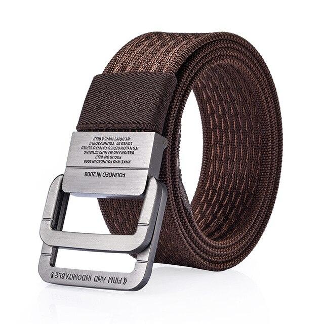 2018 equipo militar cinturón táctico hombre doble hebilla anillo espesar  cinturones de lona para hombres cinturón e6e7ab4327a
