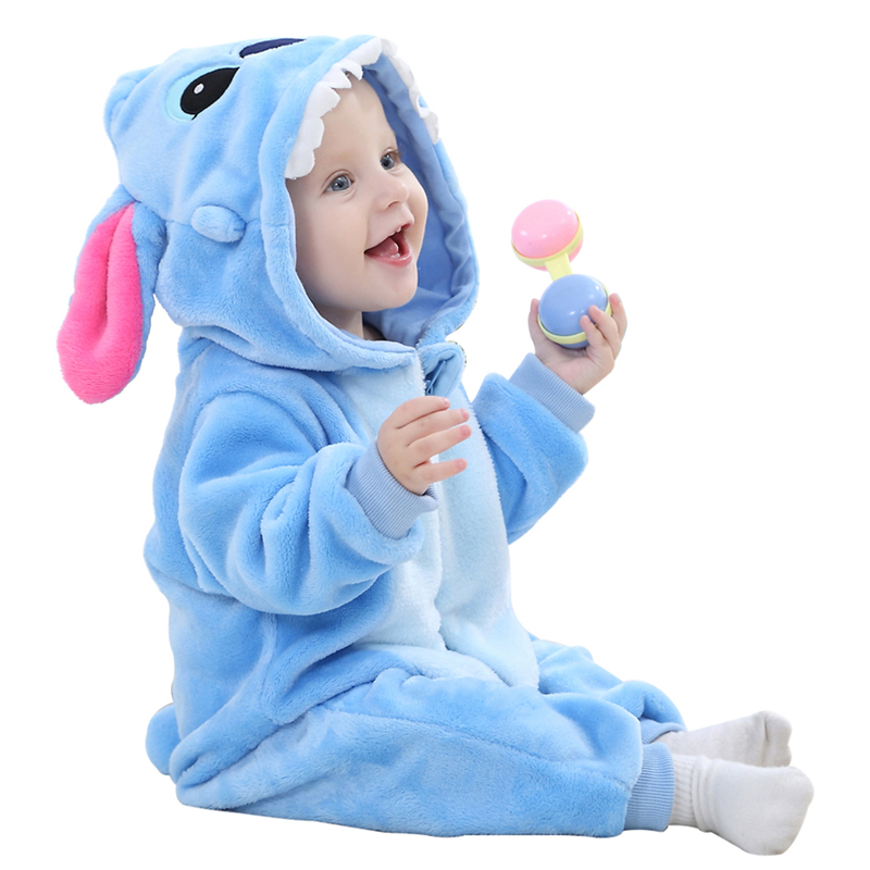 Newborn Baby Rompers Autumn Winter Jumpsuit  boys girls Animal Warm Zipper Flannel Unicorn Overall Clothes Lucky Child pajamas christmas 2017 brand new winter newborn infantil baby rompers kid boys and girls clothing real fur jumpsuit down overall jacket
