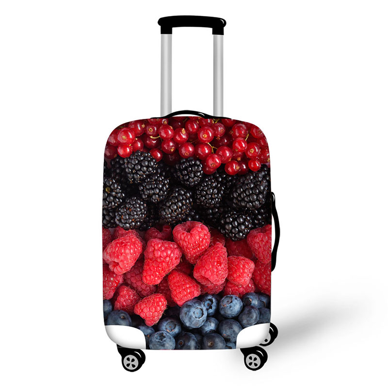 Fruit Food Print Travel Luggage Suitcase Protective Cover Stretch Waterproof Portable Luggage Covers Rain Cover