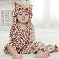 Baby Cartoon Animal Cosplay Photo props Receiving Blanket Flannel Brown Color Cow Design Newborn Infant Bath Sleeping Robe