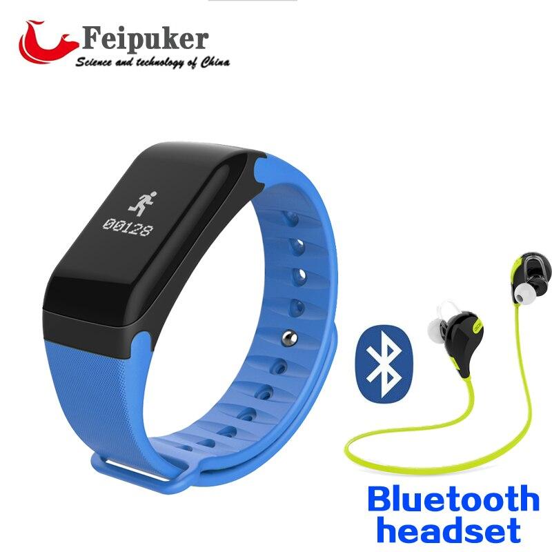 imágenes para Banda inteligente Relojes F1 Reloj Pulsera Inteligente de la Presión arterial Monitor de Ritmo Cardíaco Banda Inteligente de Fitness Inalámbrico Para Android IOS