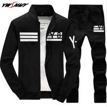 2019 Men's Sportwear Suit Comfortable Sweatshirt Tracksuit Male Casual Active Zipper Outwear Hoodies+Pants Tracksuits Sets