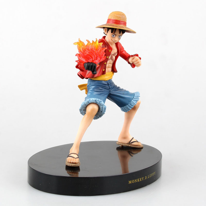Free Shipping 7 One Piece Anime Monkey D Luffy Prize A Fire Fist Gun Ver. Boxed 18cm PVC Action Figure Model Doll Toys Gift
