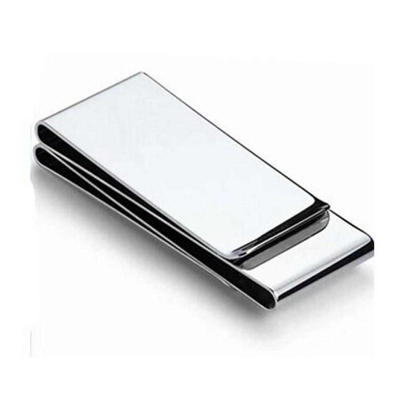 Brand Multifunction Solid Money Clip Slim Pocket Purse Cash Holder Card Organizer Stainless Steel Money Clamp Men Women Wallet