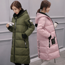 2016 зимний пуховик длинные пальто Парки утолщение женщин теплую одежду с капюшоном пальто высокого качества b030