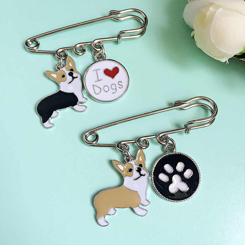 Broş Pins Kadınlar için Oyuncak Bulldog Köpekler Kadın Kolye Çekicilik Toptan Rozeti Broş Pins Takı Kadınlar Ve Erkekler Için