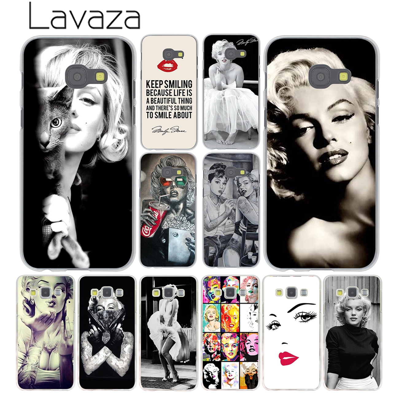 609F Marilyn Monroe and friend Lovely Hard Transparent Case Cover for Galaxy A3 A5 7 8 J5 J7 & Note 2 3 4 5 7 & Grand 2 & Prime