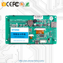 Stone Tech 4.3 lcd tft control panel in the automatic control fields used as HMI+ PLC used m plc a1sd61 xh01