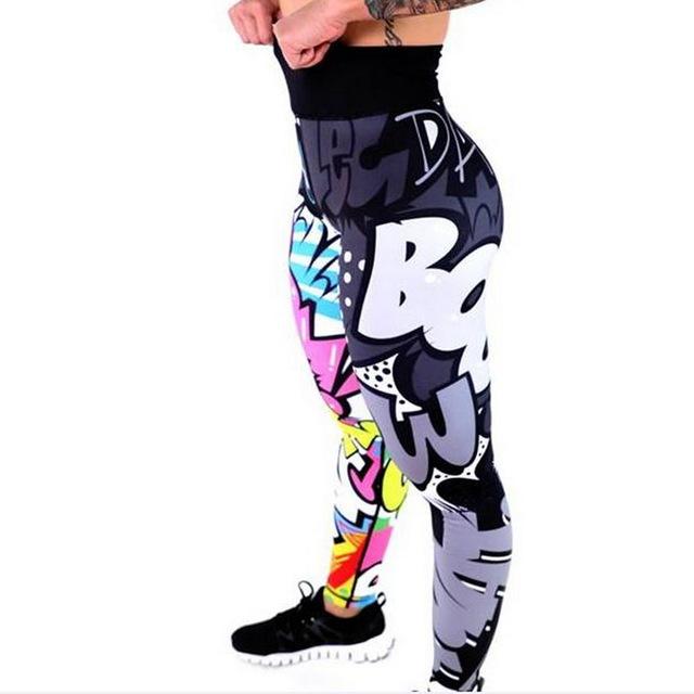 Female Elastic Athletic Pants Breathable Legging Yoga Pants