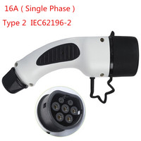 Type 2 EV PLUG 16A Single Phase Car Side Mennekes IEC 62196 2 European Standard Female Charger Connector Electric Car Charging