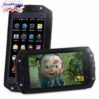 2019 GuoPhone V9 V19 teléfono Rover V9 con IP68 MTK6580 2GB RAM 16GB ROM Android 5,1 3G GPS 4,5 pulgadas pantalla impermeable teléfono inteligente