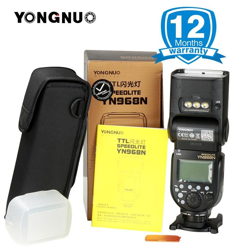 YONGNUO YN968N Sans Fil Flash Speedlite Équipée avec LED Lumière YN968 TTL Flash pour Nikon DSLR Caméra YN622N YN560-TX RF603