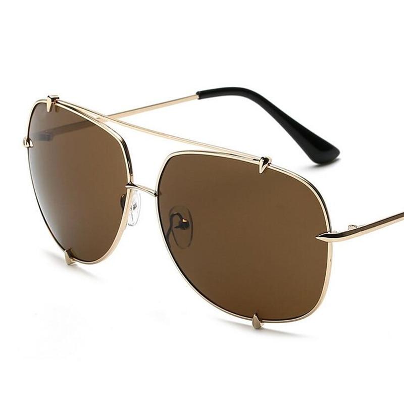 HBK Mode Übergroßen Pilot Sonnenbrille Frauen UV400 Retro Marke ...