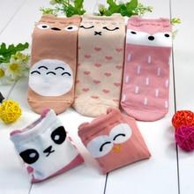 baby socks 5 pairs cartoon kids cute animal pattern cotton baby boy girl knee socks children toddler winter warm