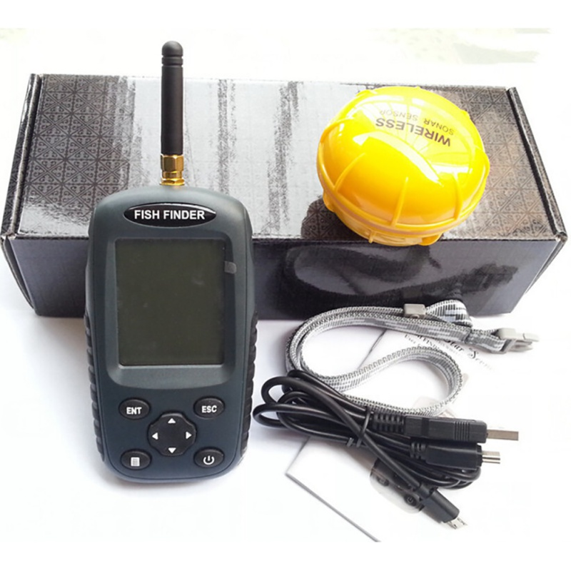 Image 3 - Newest Smart Portable Fish Finder FF998 Rechargeable Sonar Fish Finder Wireless125KHz Sonar Sensor Wireless Fishfinder-in Fish Finders from Sports & Entertainment