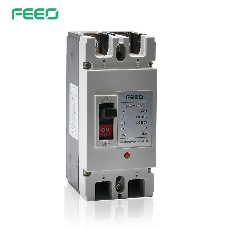 Interrupteur de disjoncteur à boîtier moulé FEEO FPVM 2P 550V 160A 200A 250A DC MCCB
