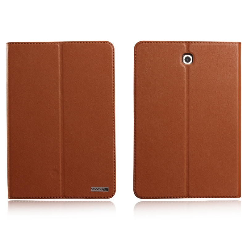 Invisible Magnet Genuine Leather Case For SAMSUNG Tab S2 8 0 T710 T715 Tab S2 9