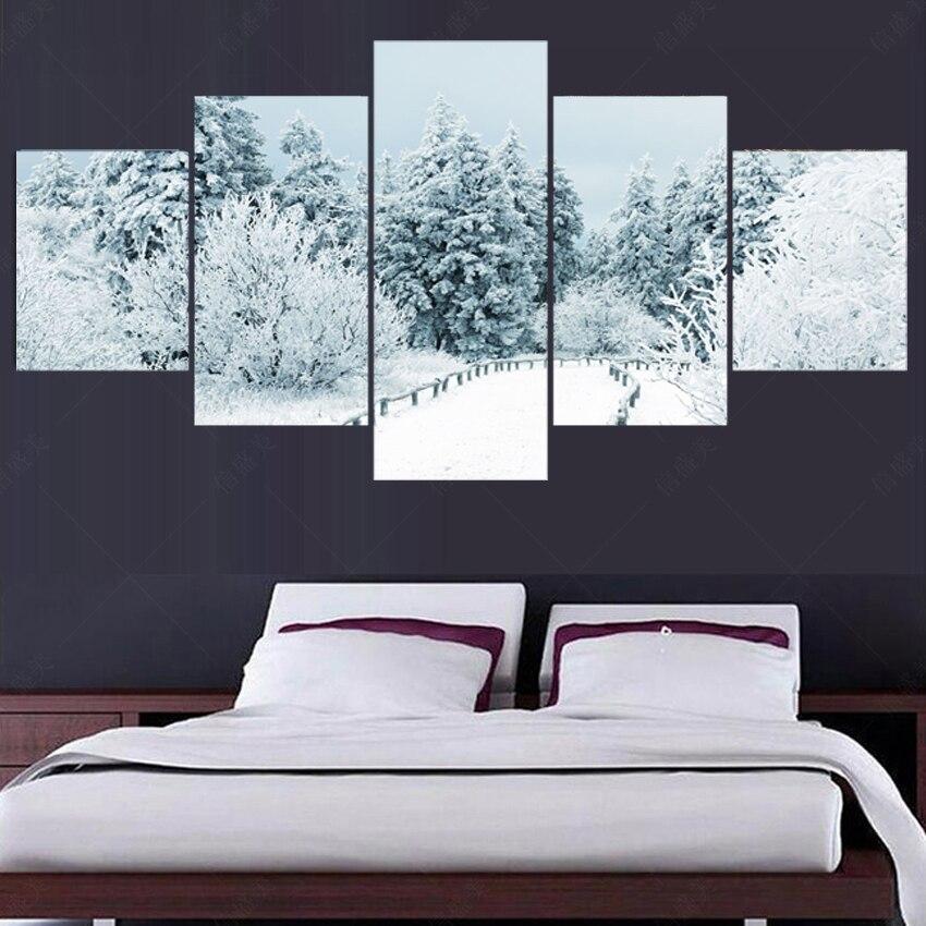 ᐅ5 unidades lienzo (no Marcos) pintura al óleo de la pared para la ...