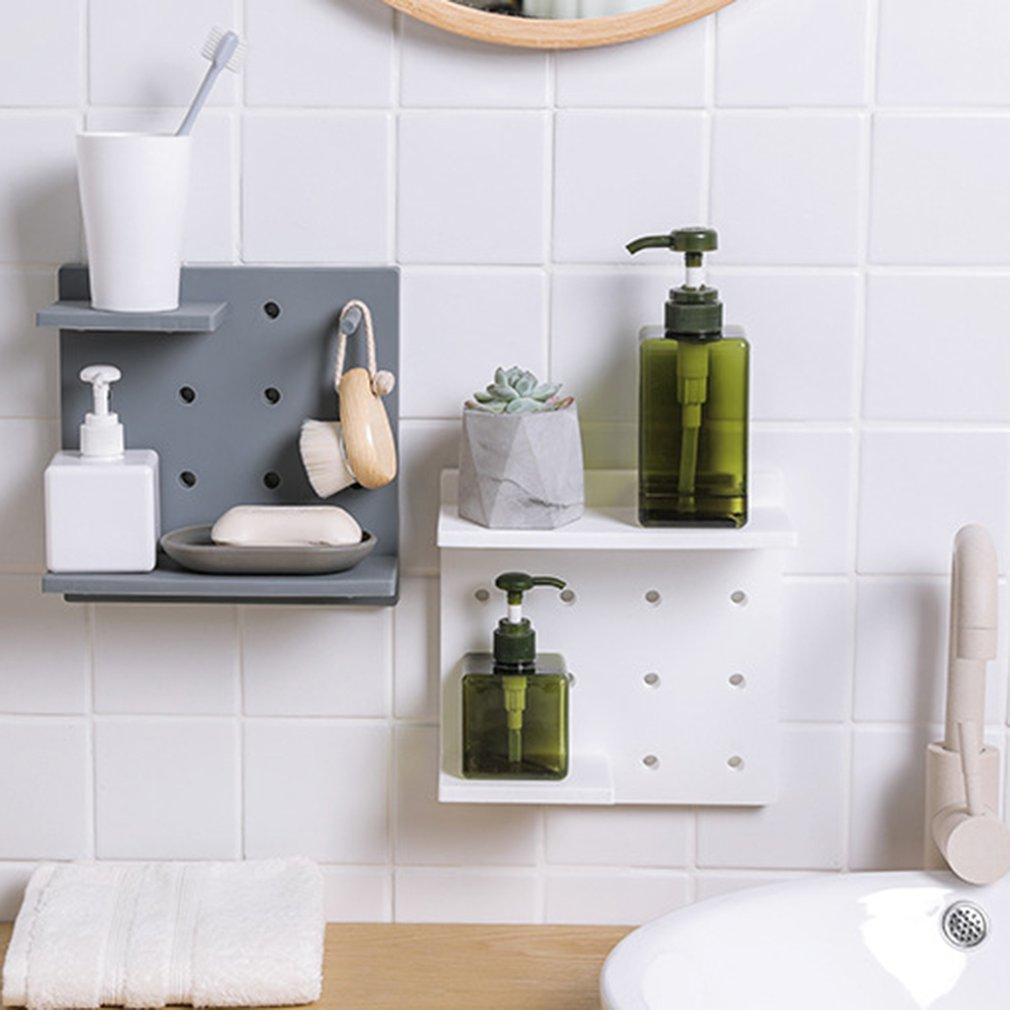 3 Layer Plastic Bathroom Shelf Storage Shelf Bath Room Floor Shampoo Rack Corner Shelf Towel Basket Home Garden Products Elegant And Sturdy Package Bathroom Hardware