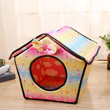 2018 New Soft Dog House For Pet Removable Bed Cat Puppy Home Shape Animals Kennel Small Drop Shipping