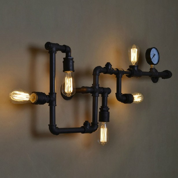 Online Shop American Country Industrial Wall Lamps Vintage Water ...