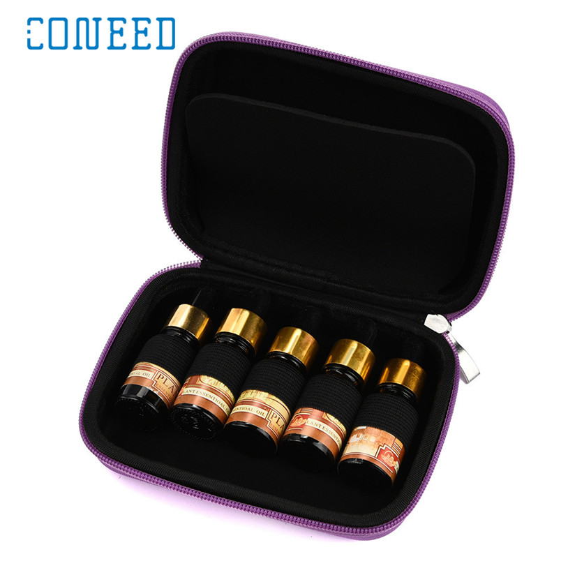 Coneed organizer 10 Roller Bottles Essential Oil Case Carry Holder Aromatherapy Storage Bag u70711