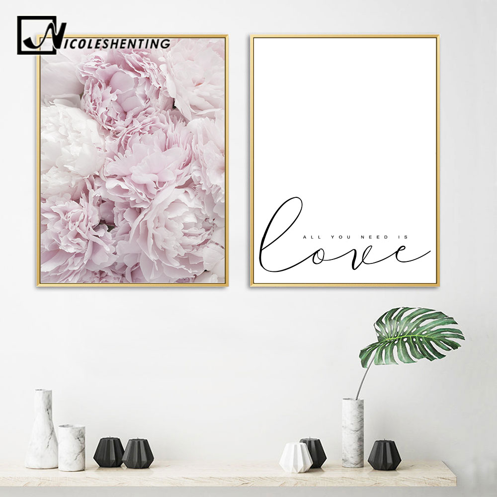 Flower, Minimalist, Painting, Pictures, Canvas, Wall