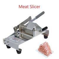 Manual Meat Cutting Machine Handheld Mutton Roll Slicer Stainless Steel Meat Slicer