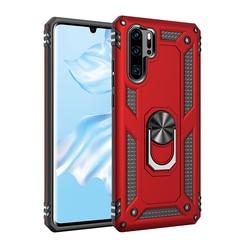Odporne na wstrząsy pancerne etui z podpórką do Huawei P20 P30 Lite Nove 4e P Smart Y6 Y7 Prime Pro 2019 pierścień magnetyczny uchwyt anty-upadek