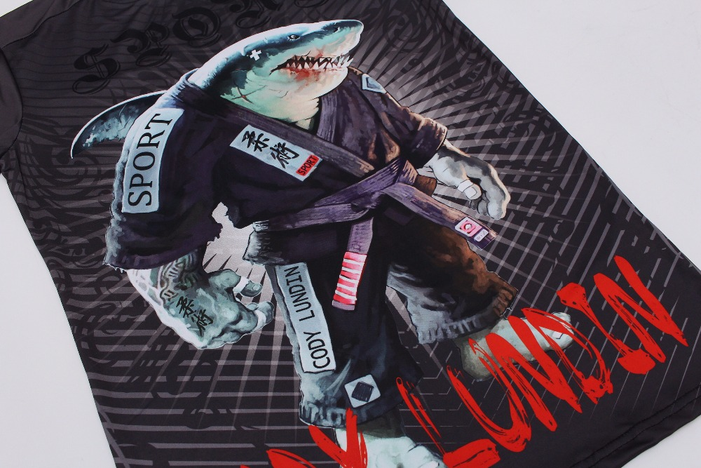 Cody Lundin T Shirt Compression MMA Fitness UFC Fight Men Muay Thai Tee  Shirt Jiu-Jitsu Tight Fightwear