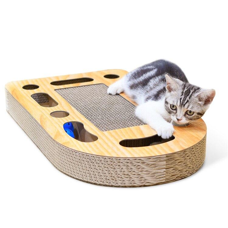 Animal de compagnie chat jouet chat tableau à gratter, ondulé papier balle chat attraper conseil chat, griffe griffe chat jouet fournitures, envoyer cataire.