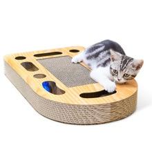 Pet cat toy scratch board, corrugated paper ball catching board cat, claw supplies, send catnip.