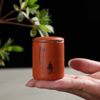 China Yixing Zisha Tea Clay Teapot Pu Er Tea Trumpet Ceramic Mini Tea Tins Black Green
