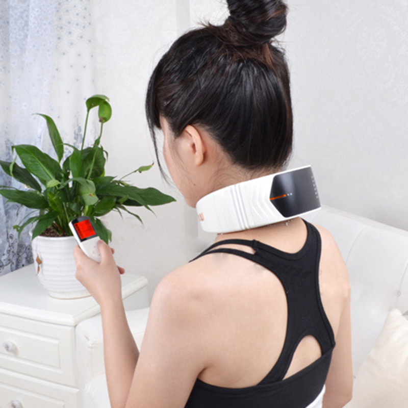цена на Neck Meridian Therapeutic Apparatus Cervical Therapy Instrument Wireless Remote Control Neck Back Massager Health Care Tools 30