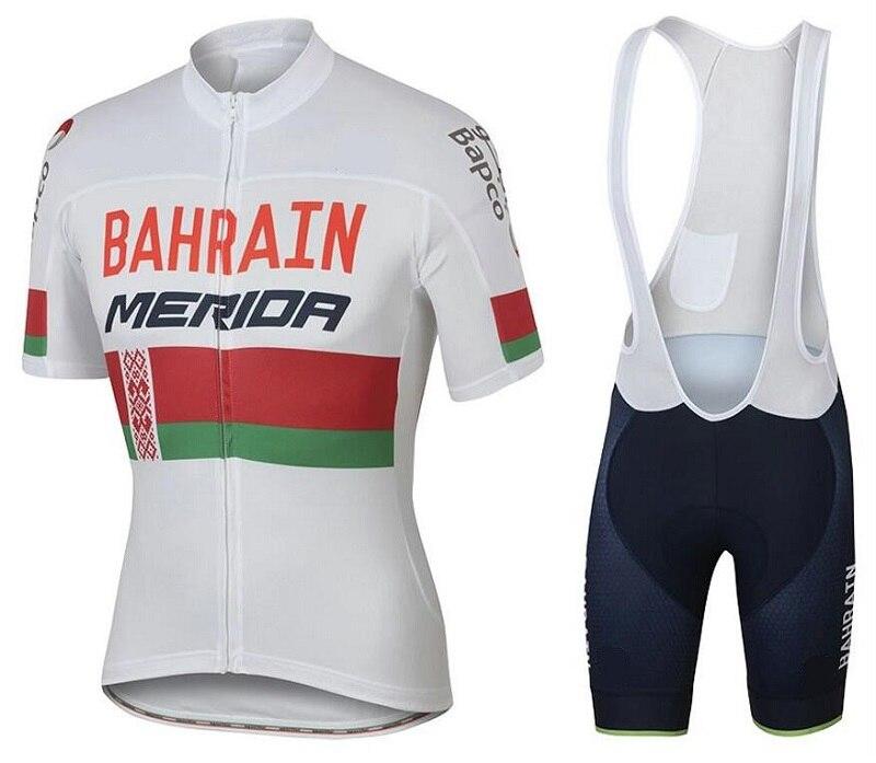 2019 New Pro MERIDA Men Summer Bahrain Short Sleeve Cycling Jersey mtb  Quick Dry Bib Shorts Ropa Ciclismo Clothing Bike Clothes dd7b826c4