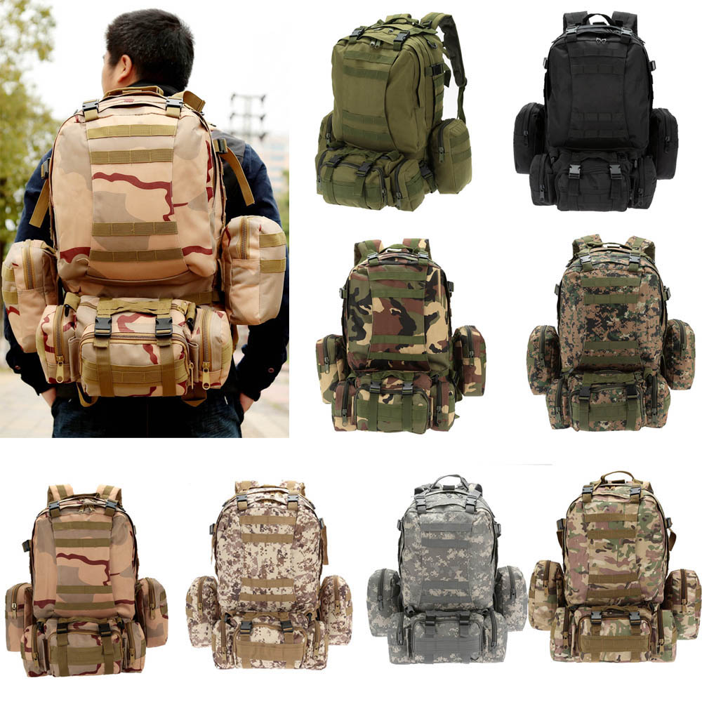 Lixada Multifunction Military Bag Tactical Backpack Outdoor Bags MOLLE Webbings Rucksack Sports Camping Travel Hiking Sports Bag