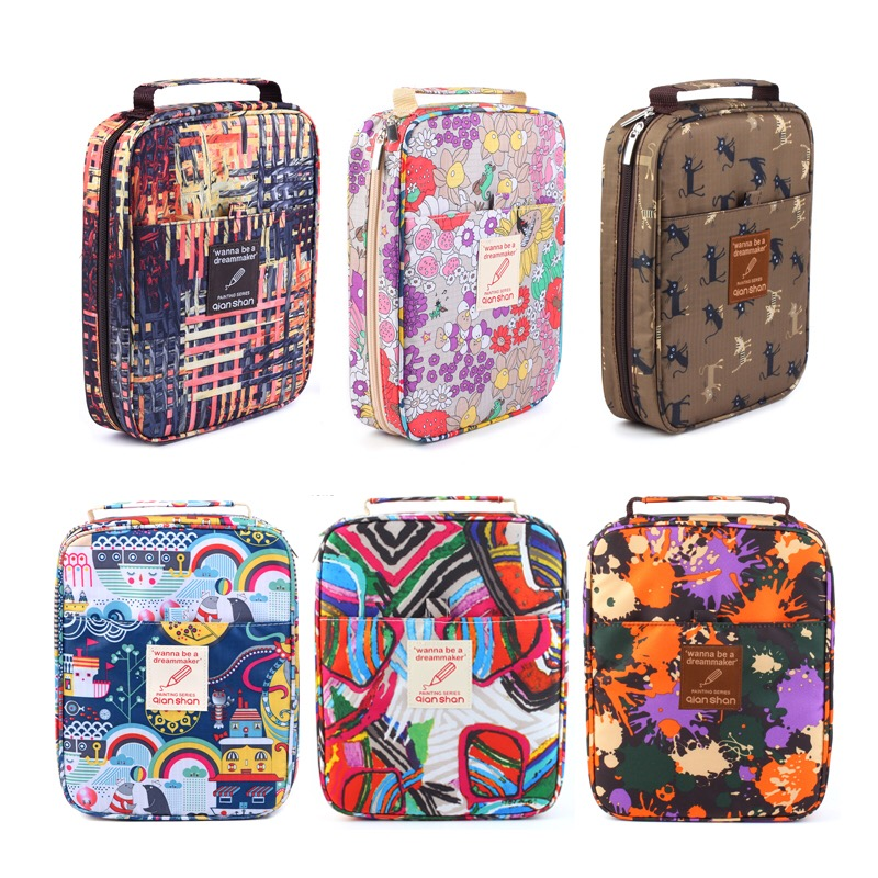 New Cute Kawaii 72-150 Holder Portable School Pencils Case Large Capacity Pencil Bag For Colored Pencils Watercolor Art Supplies new cute kawaii 72 150 holder portable school pencils case large capacity pencil bag for colored pencils watercolor art supplies