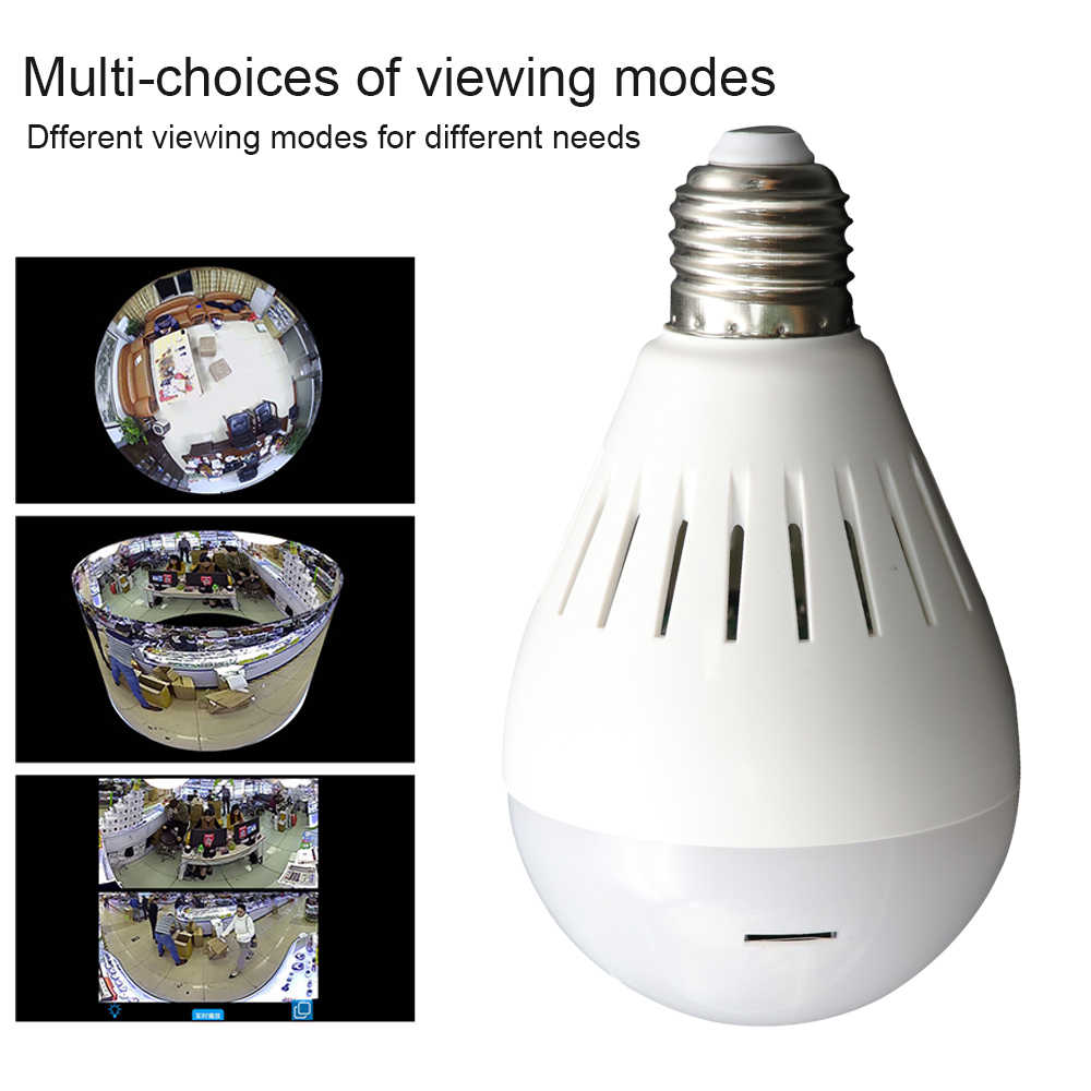 YuBeter 960p 360 wifi IP Cameras Surveillance Security Panoramic Cameras Lamp Bulb Home Security Fisheye Baby Care Two Way Audio