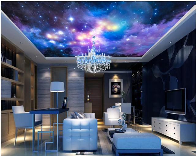 Dream living room bedroom ceiling sky 3d mural designs Ceiling ...